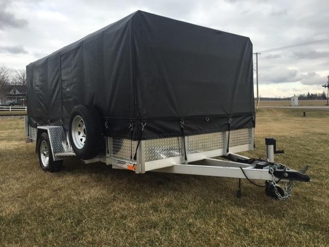 tarped millroad trailer