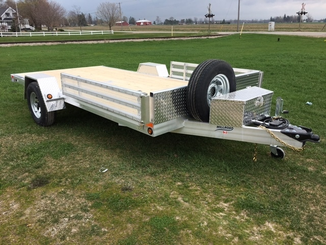 flat deck utility trailers for sale