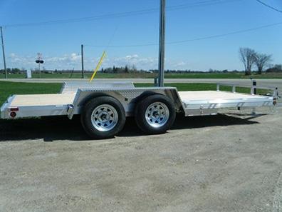 aluminum flat deck trailers