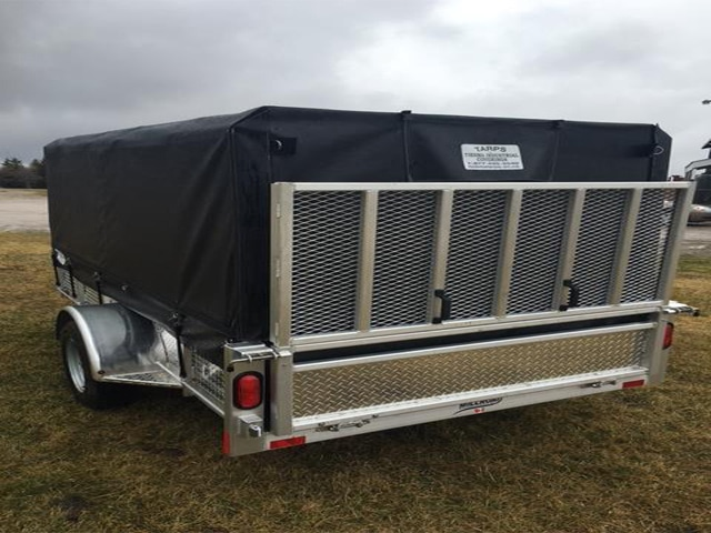 tarped utility trailer