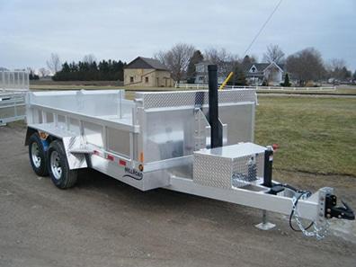 flat deck tilt trailer