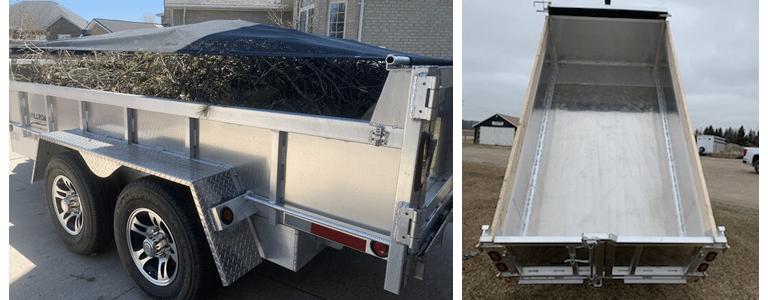 What size dump trailer