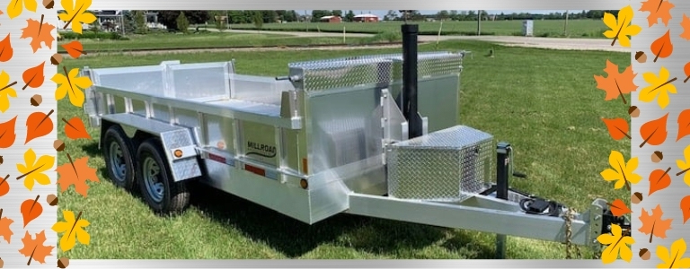 How A Dump Trailer Helps With Fall Clean Up